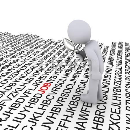 14523248-3--persona-con-lupa-en-busca-de-trabajo-entre-las-letras